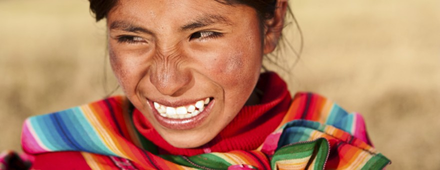 Peruvian girl wearing national clothing, The Sacred Valley, Cuzc