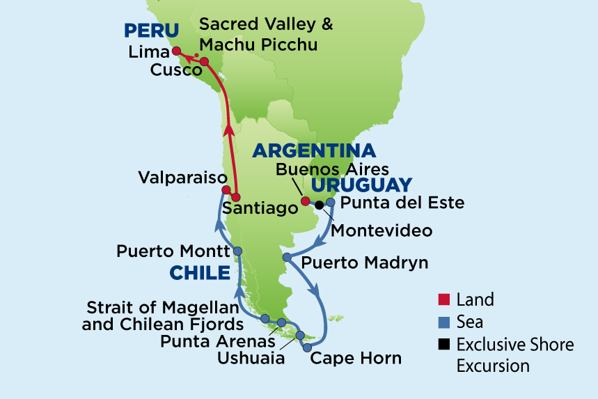 Journey To Argentina And Machu Picchu Enrichment Journeys - Argentina map of cities