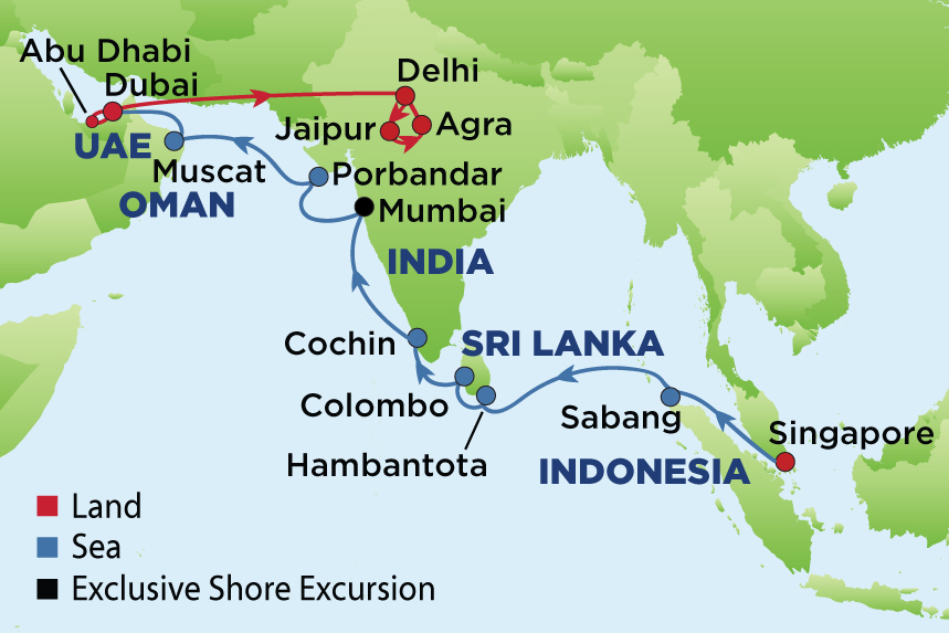 Journey to india dubai myanmar and sri lanka from the earliest times the journey of goods and trade in the ancient world became the routes by which man explored his environment and shared his culture gumiabroncs Images